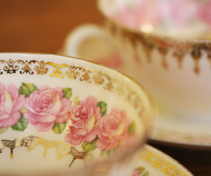 teacup, cup, and floral image
