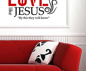christian, decal, and wall art image