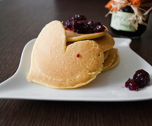 pancakes, food, and cherry image