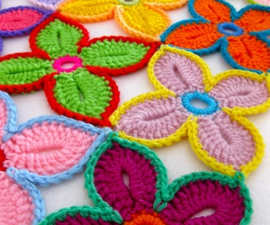 flowers, craft, and crochet image