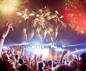 Tomorrowland, party, and fireworks image