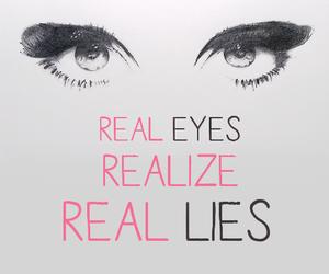 eyes, lies, and real image