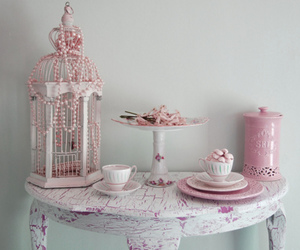 pink, vintage, and shabby chic image