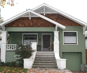 bungalow, green, and home image