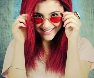 ariana grande, red, and pretty image