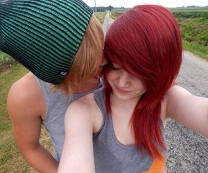 couple, emo, and scene image