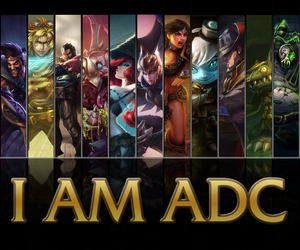 lol, league of legends, and adc image