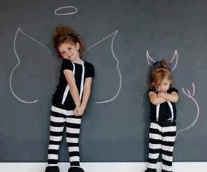 angel, baby, and Devil image