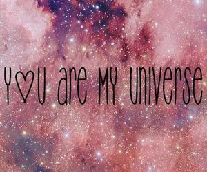 me, love, and universe image