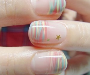 nails, stars, and pastel image