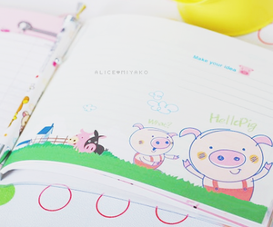cute, diary, and kawaii image