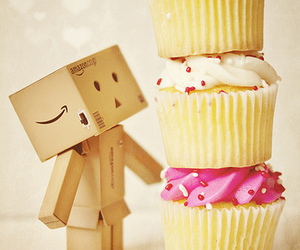 cupcakes, danbo, and food image
