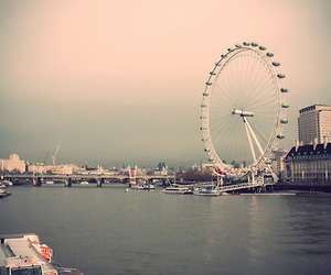 london, london eye, and uk image