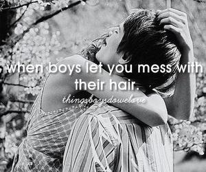 boy, love, and hair image