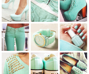 shoes, nails, and blue image