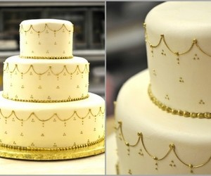 cake, decoration, and gold image