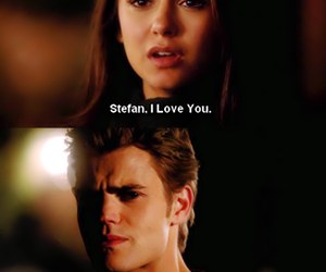 stelena, the vampire diaries, and elena gilbert image