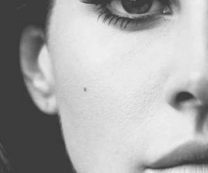 lana del rey, black and white, and face image