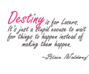 destiny, gossip girl, and blair waldorf image