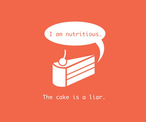cake, funny, and liar image