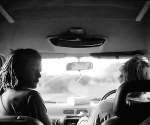 black and white and Road Trip image
