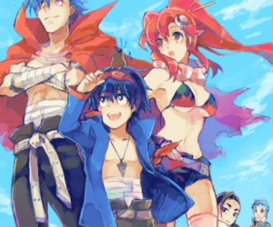 anime, kamina, and simon image