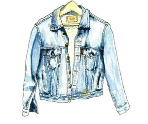 drawing, jacket, and clothes image