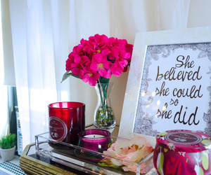 flowers, quotes, and believe image