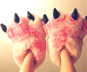 pink, slippers, and cool image