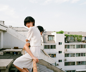 asian, couple, and girl image