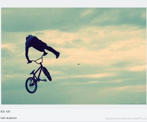 bike, bmx, and fly image