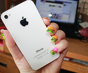 nails, apple, and iphone image