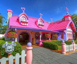 disney, pink, and house image