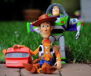 andy, toy story, and buzz lightyear image