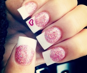 nails, style, and french tip image