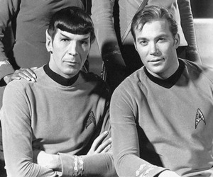 Kirk, spock, and star trek image