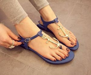 anchor, sandals, and summer image