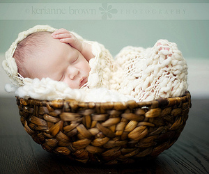adorable, baby, and newborn image