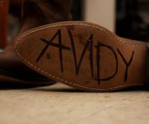 andy, shoes, and toy story image