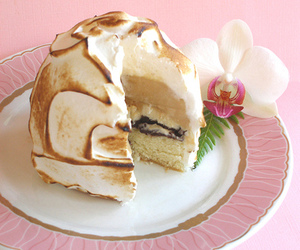 baked alaska, meringue, and love image