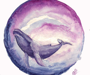 painting and whale image