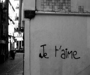 love, je t'aime, and french image