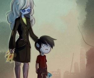 adventure time, ice queen, and marshall lee image