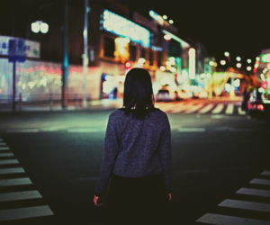 asian, girl, and night image