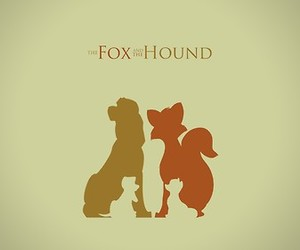 the fox and the hound, cartoon, and disney image