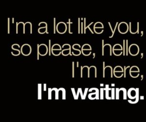 quote, text, and waiting image