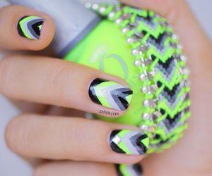 nails, black, and green image