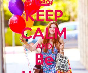 girl, happy, and keep calm image