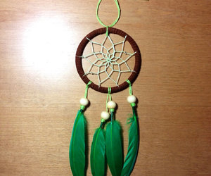 diy, dreamcatcher, and green image