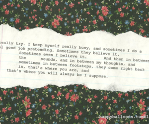 alone, believe, and floral image